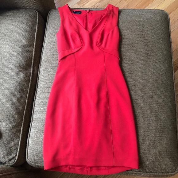 bebe Dresses & Skirts - Sexy Bebe dress red v-neck size 00